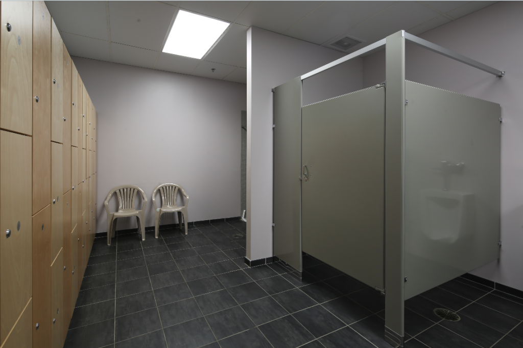 Ground Control Gym Locker room with Showers