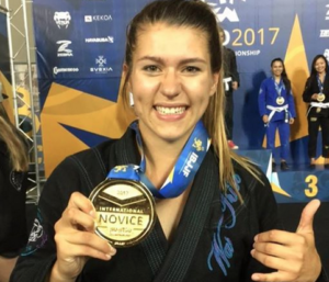 Jordan Wagner with a medal at IBJJF Worlds